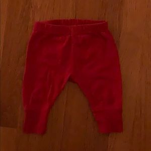 Hanna Anderson red baby pants size 50 (0-3 months)